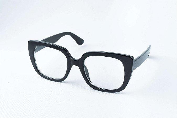 Armação Óculos de Grau Perla Prado - ref: Londres Black
