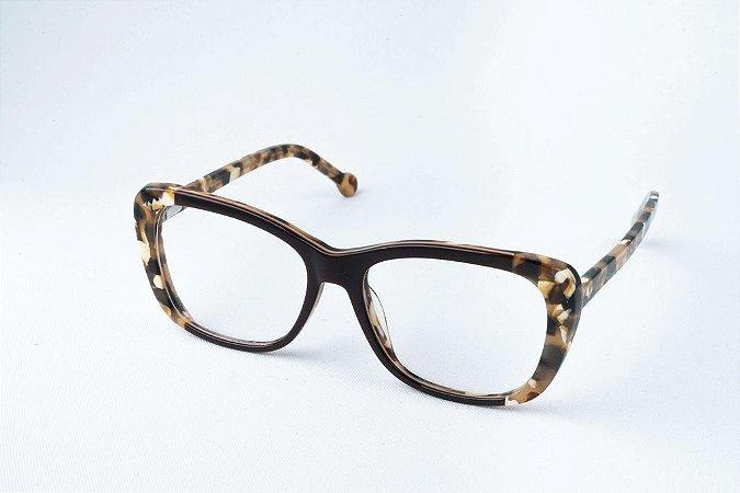 Armação Óculos de Grau Perla Prado - ref: Naomi