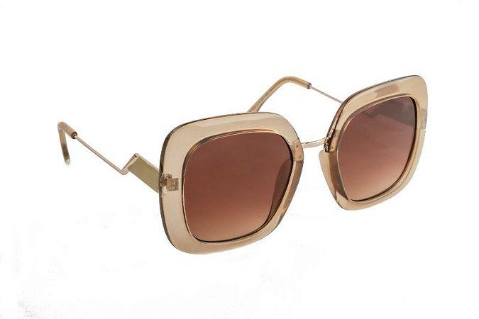 Óculos de sol Perla Prado ref: Óculos Tulum Castanho Marrom