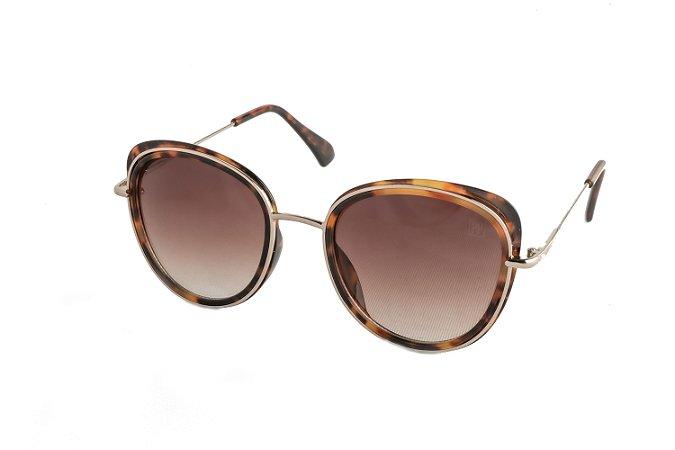 Óculos de sol Perla Prado ref: Óculos Capri Turtle Marrom