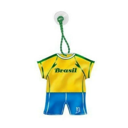 Enfeite Camisa Verde e Amarelo Com Ventosa