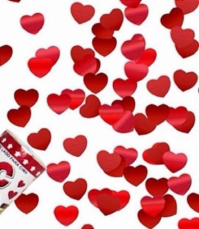Lança Confete Coração Laminado 28cm
