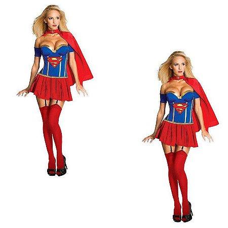 Fantasia Adulto Superwoman Tam Único - Aluguel
