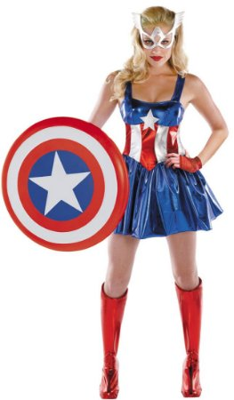 Fantasia Adulto Feminina Capitã América Tam M - USADA