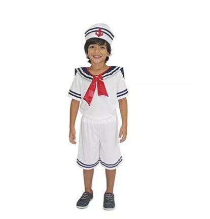 Fantasia Marinheiro Infantil Tam 12