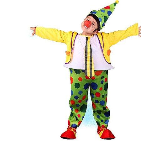 Fantasia Infantil Palhaço com Bambolê Menino - Usado