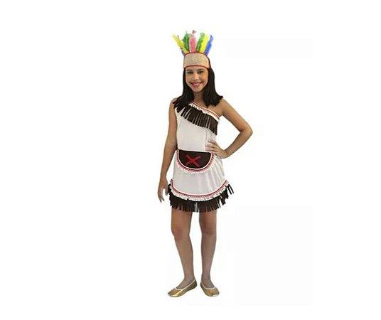 Fantasia Índia Vestido Infantil Tam 4