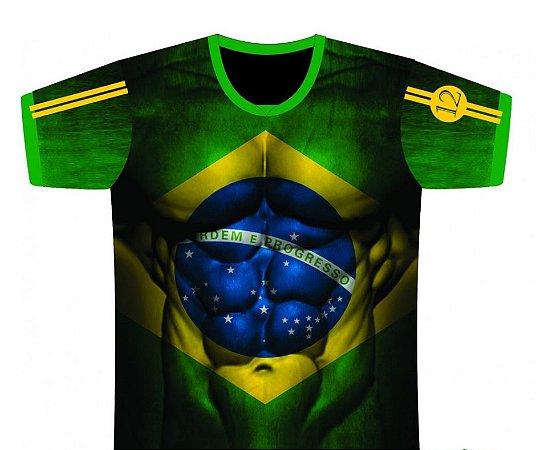 Camiseta Adulta Brasil Músculos Tam P