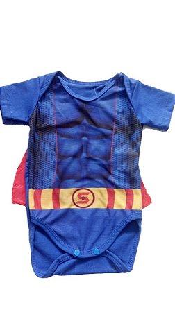 Body Baby Capitão América Tam. GG