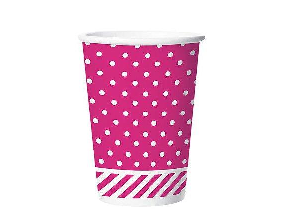 Copo de Papel 180ml Festa Colors Pink 8 Unidades