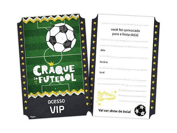 Convite Pequeno Futebol 8 Unidades