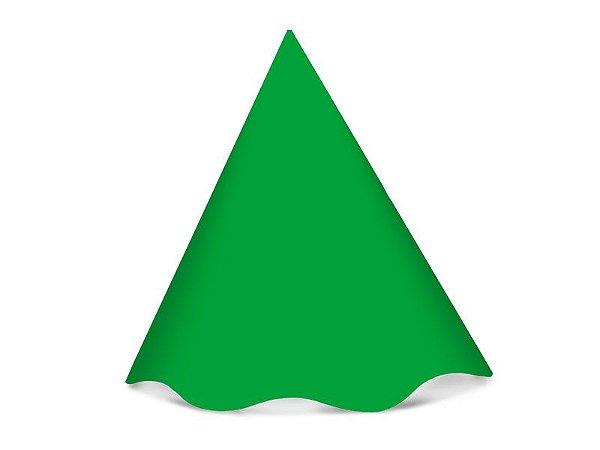 Chapéu de Aniversário Festa Colors Verde 8 Unidades