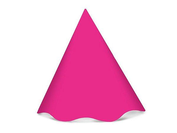 Chapéu de Aniversário Festa Colors Pink 8 Unidades