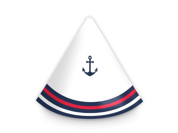 Chapéu de Aniversário Marinheiro 8 Unidades
