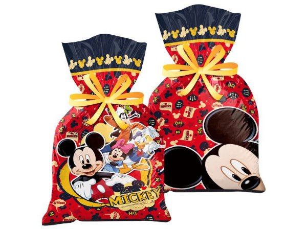 Sacola Plástica Mickey Clássico 8 Unidades