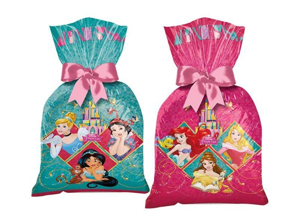 Sacola Plástica Princesas Amigas 8 Unidades