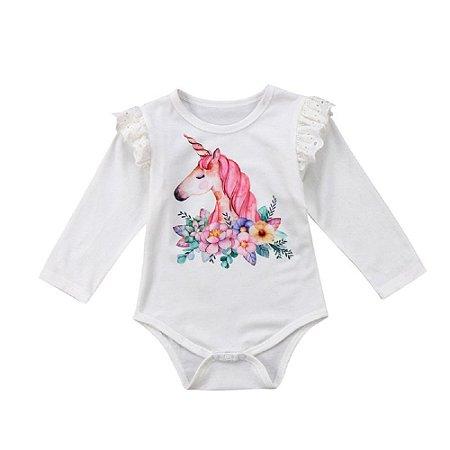 Body Unicórnio Infantil - 12 a 18 meses