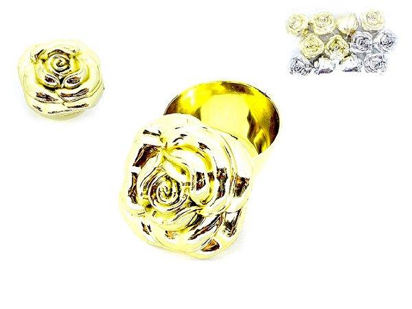 Caixinha Flor Lembrancinha Dourada - Unidade