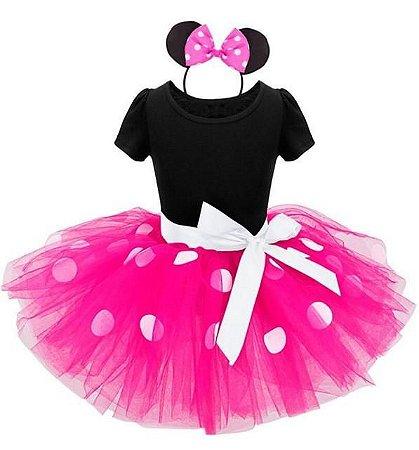 Fantasia Baby Minnie Tutu rosa Tam 6 a 12 meses