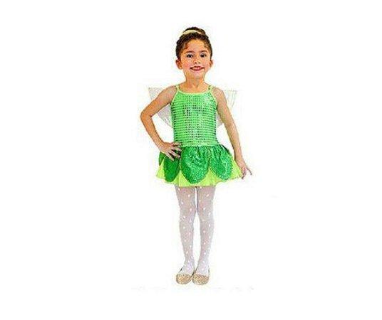 7bb155e330 Fantasia Fadinha Verde Infantil - Tam 2