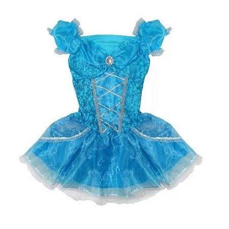 Fantasia Princesa Cristal Adulto Tam M - Aluguel
