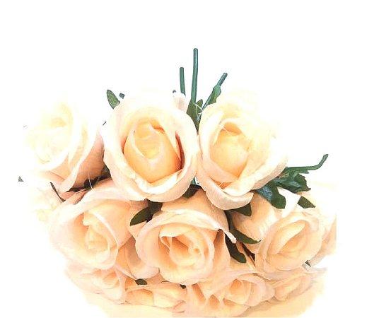 Ramo de Rosas Artificial Rosa bebê - Unidade