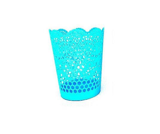 Cesto Multiuso Decorado 14 cm Azul