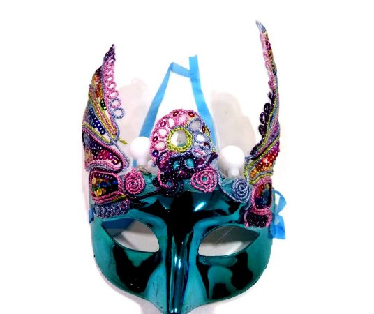 Máscara Carnaval Azul