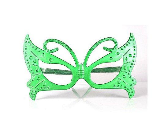 Óculos Borboleta Metalizado Verde
