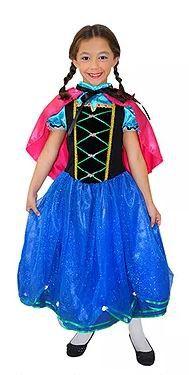 Fantasia Princesa Anna - Infantil - Tam 12 - Usado