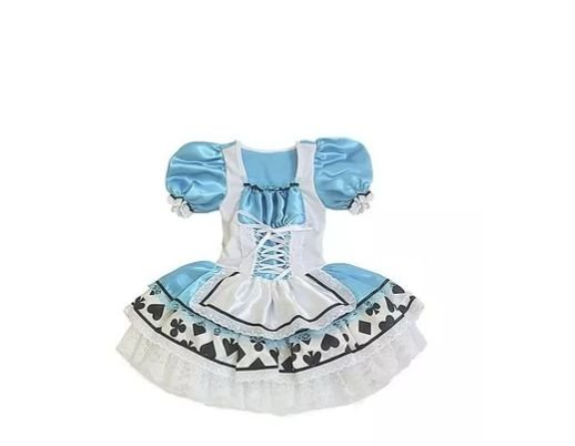 Fantasia Alice no País das Maravilhas - Adulto - G- Aluguel