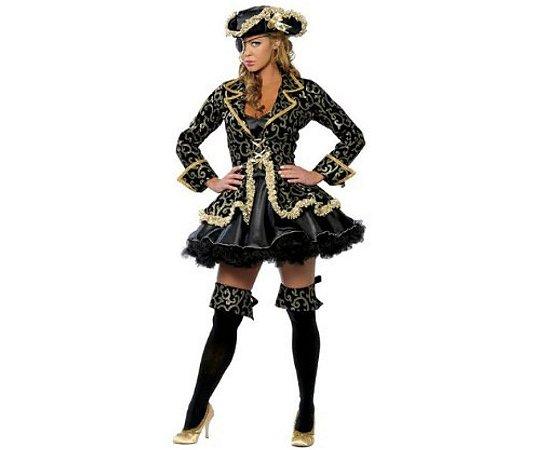 Fantasia Pirata Glamour feminina tamanho M - Usado
