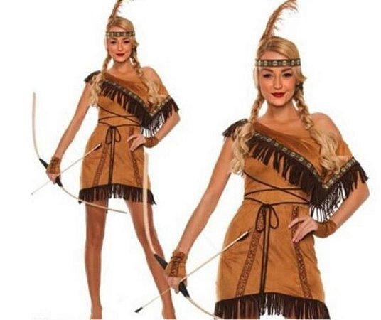 Fantasia Pocahontas Adulto tamanho P - Usada