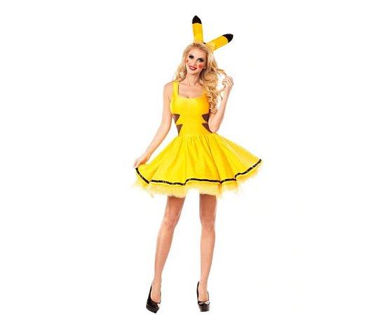 06c09e96f7 Fantasia Pikachu Feminino tamanho G - Aluguel - Festaria l Festaria ...