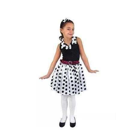 Fantasia Anos 60 Vestido Preto Infantil Tam 4 Aluguel