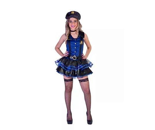 823c72fbe Fantasia Policial Feminino Luxo tamanho P - Aluguel- Festaria ...