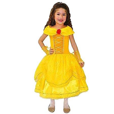 Fantasia Princesa a Bela e a Fera Diamante - Infantil - Tam 2