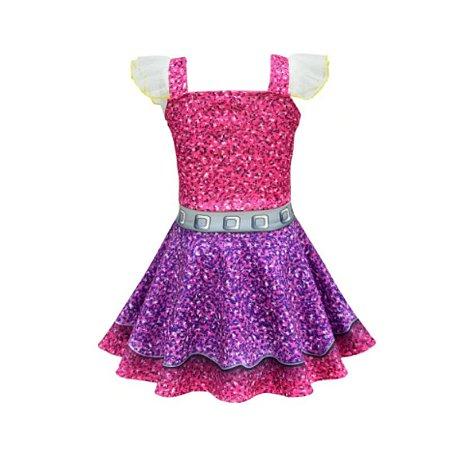 Vestido infantil LOL - feminino tamanho 3 a 4 anos