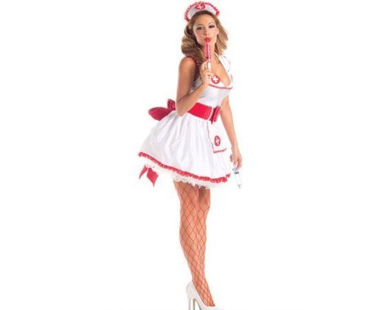 76ce53a1f Fantasia Enfermeira Adulto tam U - Aluguel - Festaria - Festaria ...