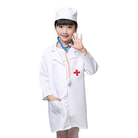 Fantasia Enfermeira(o) Unissex Infantil Tam 8 -  Aluguel