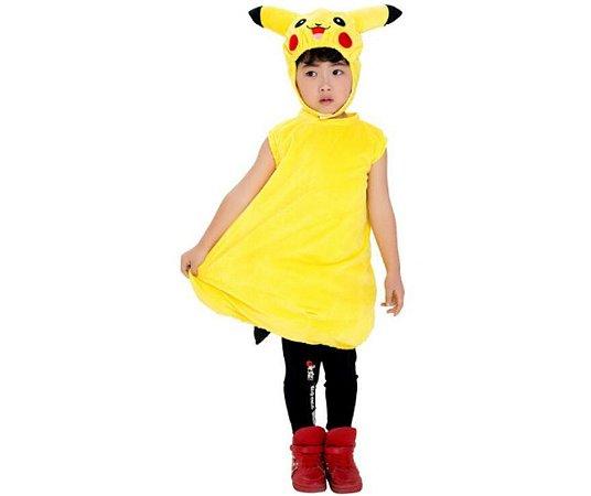 Fantasia de Pelúcia Pikachu infantil unissex tam único