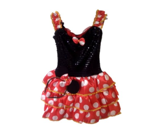 Vestido Minnie com alças inf tam 8