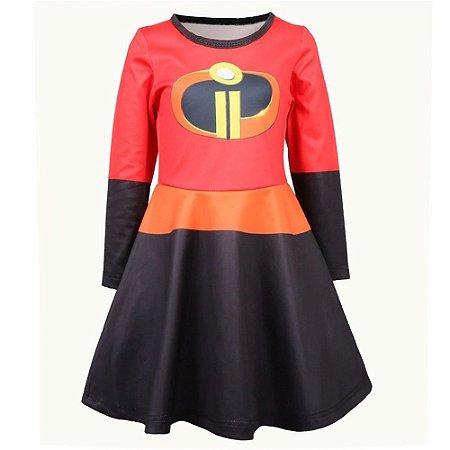Fantasia vestido Helen Parr Os Incríveis infantil tam 6