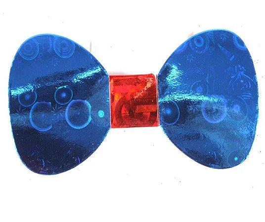 Gravata Borboleta holográfica Azul c/8 und