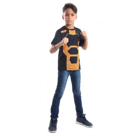 Camiseta Nerf laranja infantil P