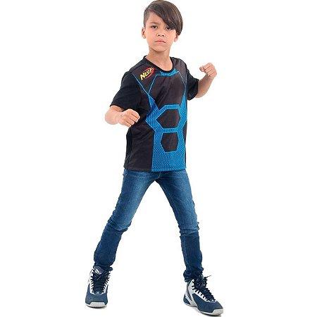 Camiseta Nerf Azul infantil M