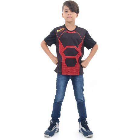 Camiseta Nerf Vermelho infantil P