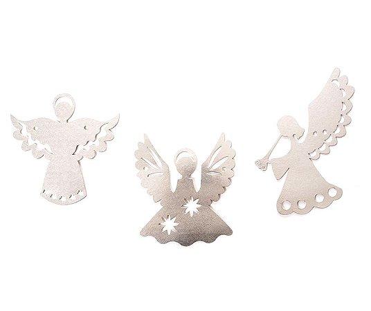 Varal Anjo de Papel metalizado Prata 3 MT
