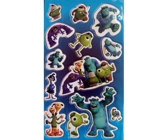 Adesivo Universidade Monstro azul alto relevo com 11 und