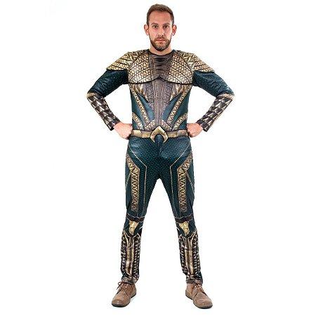 Fantasia Aquaman adulto G Luxo - Usada